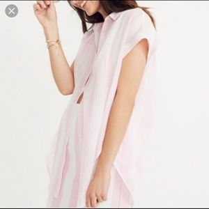 Madewell Pink Central Tunic